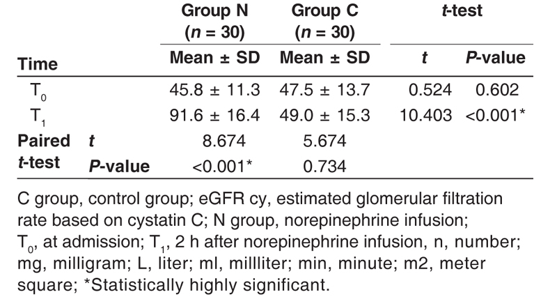 Table 8 Changes in eGFR based on Cystatine C (ml/min/1.73 m<sup>2</sup>)